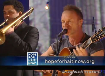 Sting Hope For Haiti Now Telethon