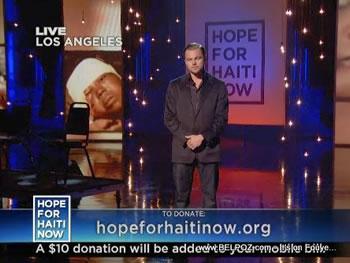 Leonardo DiCaprio Hope For Haiti Now Telethon