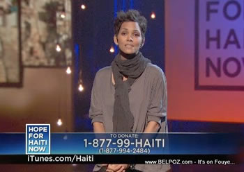 Halle Berry Hope For Haiti Now Telethon