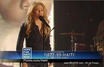 Shakira Hope For Haiti Now Telethon