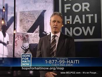 Jon Stewart Hope For Haiti Now Telethon