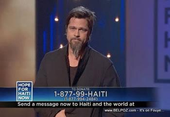 Brad Pitt Hope For Haiti Now Telethon