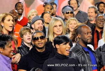 Usher Wyclef Jean Celine Dion We Are The World Haiti