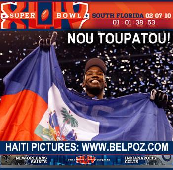 National Football League Super Bowl XLIV - Pierre Garcon, Haiti
