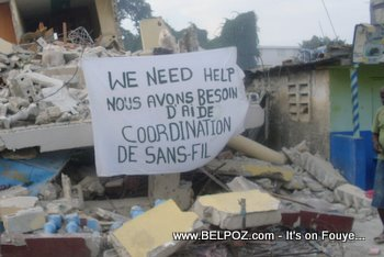 Haiti SOS Cordination Sans Fil We Need Help