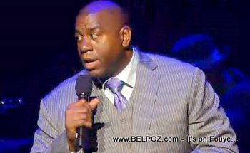 Magic Johnson George Lopez Help Haiti Concert