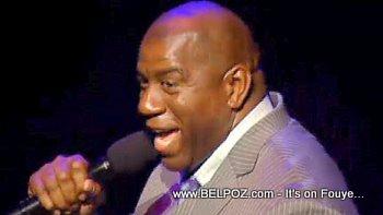 Magic Johnson George Lopez Help Haiti Concert