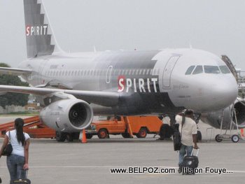 Spirit Airlines Plane at Haiti International Airport