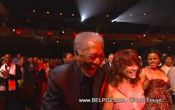 Morgan Freeman Dacing To Tabou Combo At The NAACP Image Awards