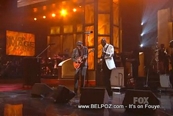 Wyclef And Santana At The NAACP Image Awards