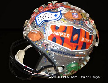 Super Bowl XLIV Helmet For Haiti Relief