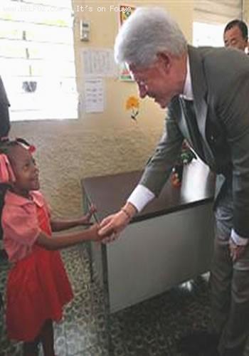 Bill Clinton In Cite Soleil Haiti