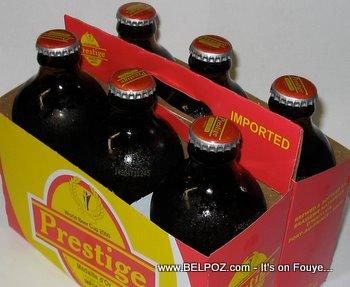 Haiti prestige bottled beer