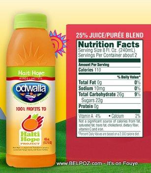 Odwalla Haiti Mango Drink