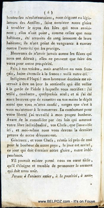 The Haitian Declaration Of Independence Page 6