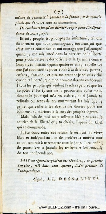 The Haitian Declaration Of Independence Page 7