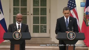 Preval And Obama Haiti Speech