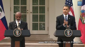 Preval And Obama At The White House