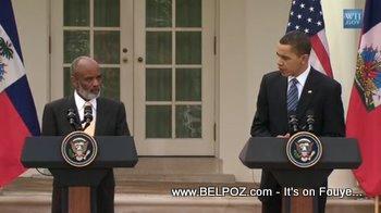 Rene Preval And Barack Obama