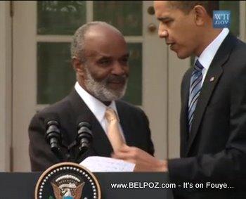 Obama Speaking To Preval