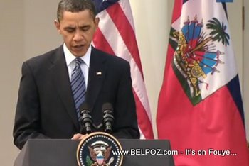 President Obama Haitian Flag