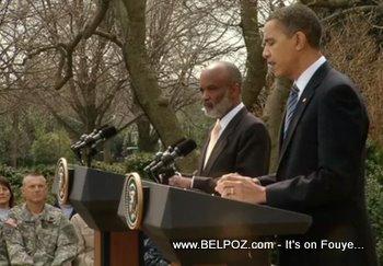 President Preval And Barack Obama
