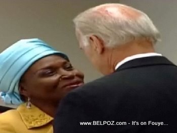 Joe Biden And Marleine Bastien In Little Haiti