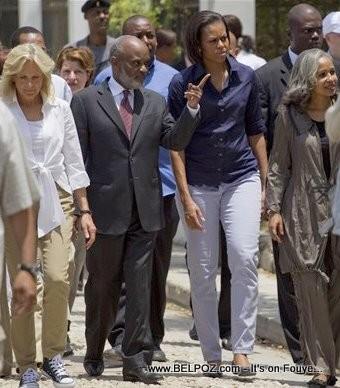 Michelle Obama In Haiti