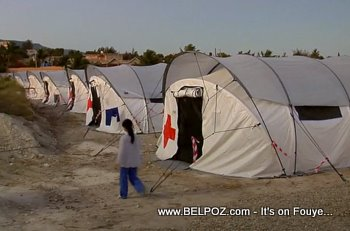 Red Cross Tents In Haiti