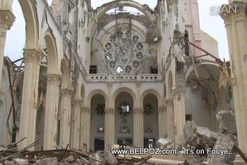 Collapsed Catholic Church Notre Dame In Haiti