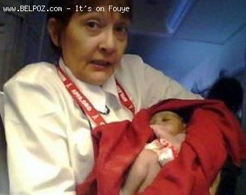 Haitian Baby Born In American Airlines Flight