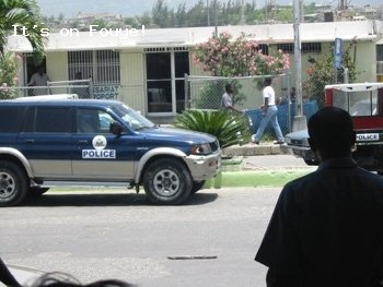 Police Station In Front Of Haiti Airport