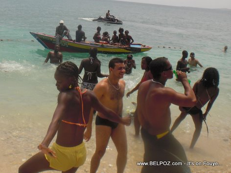 UN Soldiers Haiti beach party