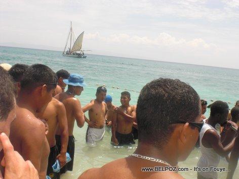 UN Soldiers in Haiti beach