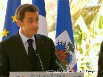 President Sarkozy Speaking In Haiti