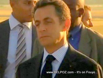 French President Nicolas Sarkozy In Haiti