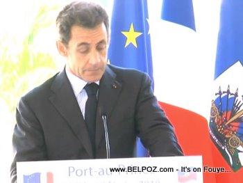 President Sarkozy In Port Au Prince Haiti