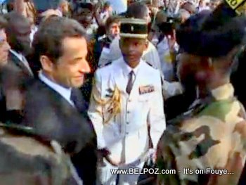 President Sarkozy Visits Haiti After Earthquake