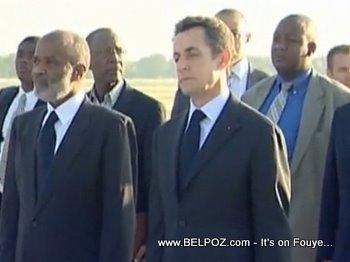 President Rene Preval And President Sarkozy In Haiti
