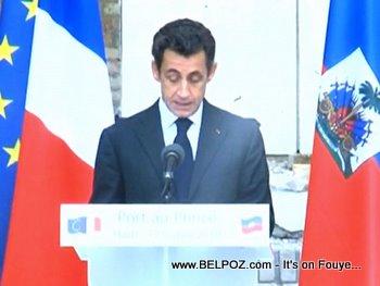 President Sarkozy Visits Haiti