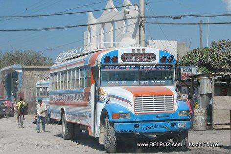 Bus Transportation La Sueur De Mon Front Gonaives Haiti
