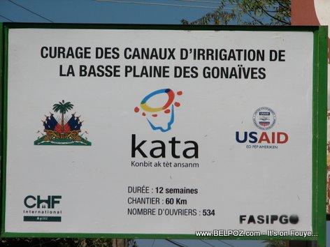 Curage Des Canaux Irigation De La Basse Plaine Des Gonaives