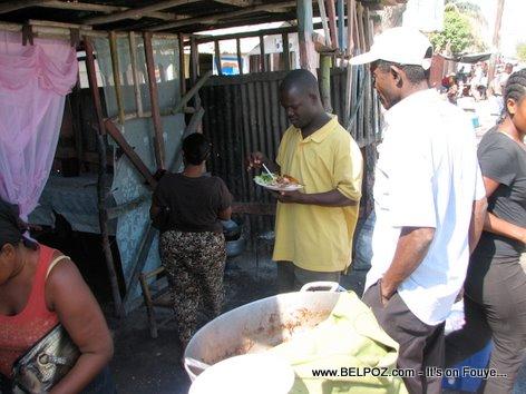 Street Restaurant In Gonaives Haiti