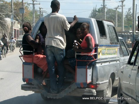 Tap Tap Transportation Gonaives Haiti