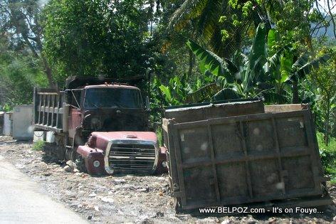Broken Dump Truck Camion Bascule Gonaives Haiti