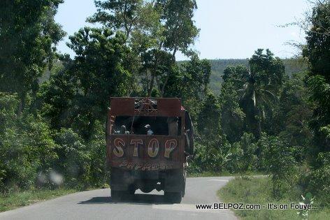 Transport Truck Route Nationale Gonaives Haiti