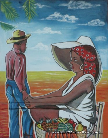 Haitian Art Side Of Cayards Market Little Haiti