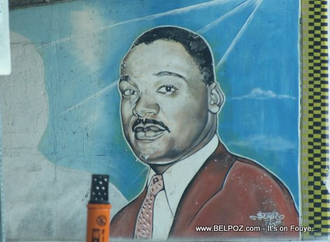 Martin Luther King Portrait I95 Exit Little Haiti Miami FL
