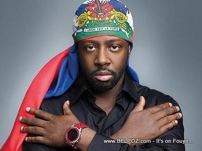 Wyclef Jean Wearing The Haitian Flag