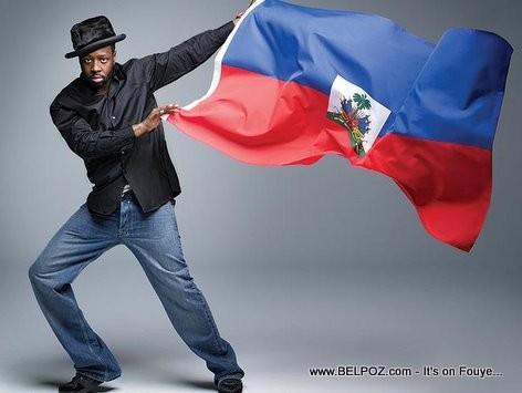 Wyclef Jean Waving The Haitian Flag